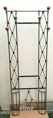 1940s French Gold and Black Art Deco Coat Rack With Umbrella Stands