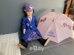 36 Mary Poppins Rare Horsman Vintage Life Size Doll Cameo Shoes And Umbrella