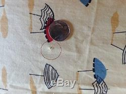 8 1/2 yards of Vintage Umbrella Novelty Fabric 1950's/60's 35 wide 100% cotton