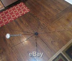 Antique 1800's hand chased floral London sterling silver parasol umbrella cane