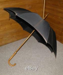 Antique 18Ct Gold Plated'Peerless' Umbrella With Black Canopy -By Paragon & Fox