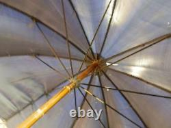 Antique BRIGG Umbrella With Hand Carved Painted Dog Head Handle With Glass Eyes