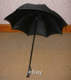 Antique Black Canopy Mourning Umbrella By Paragon Fox