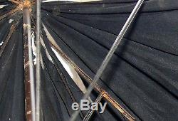 Antique Evans Sweson SWE Silver Stag Handle Umbrella Chinese Bamboo Wood Mens