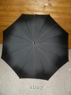 Antique HM 9 Carat Rolled Gold Gents Whangee Bamboo Walking Length Umbrella