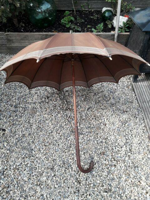 Antique Ladies Umbrella By Paragon S Fox, And Co Ltd Bamboo Shaft