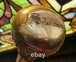 Antique Umbrella Mother Of Pearl Striped Handle Pre Owned Condition