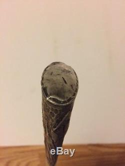 Antique Umbrella With Stering And Worked Mother Of Pearl