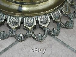 Antique Umbrella stand Rack brass Ornate Asian Chinese vase old