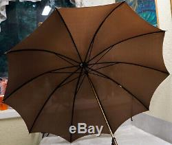 Antique Victorian GOLD filled & MOP Old MOTHER of PEARL UMBRELLA