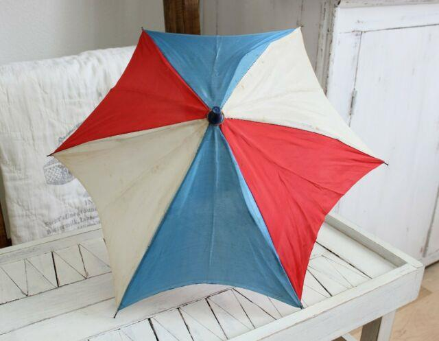 Antique Vintage Patriotic Parasol Umbrella R/withb 4th Of July Independence Day
