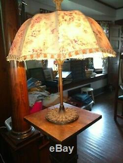 Antique Vintage RB & Co Decorative Table Lamp neat Umbrella style Shade asis