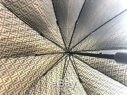 Auth FENDI ZUCCA Never Used Umbrella Vintage From Japan