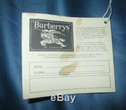 Authentic Vintage 1980's Burberry Check Burberry's Walking Stick Umbrella NWT