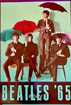 Beatles 65 Vintage Poster 1990s 23.5 X 34.5 Band Shot With Umbrellas