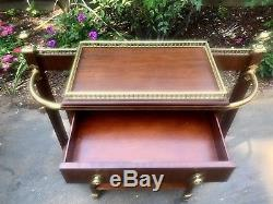Beautiful Vintage Mainland-Smith Hall Console Umbrella Rack with Brass Fixtures