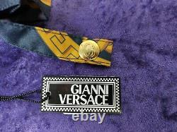 Gianni Versace RARE Umbrella vintage 1990s Black gold with pouch