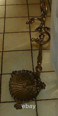 Gilded Cast Iron Umbrella Stand / Fireplace Stand (HD128)