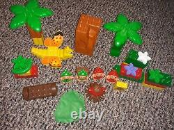 Lego Duplo Little Forest Friends Leaf Cloth Bed Umbrella Flowers Tree Trunks Lot