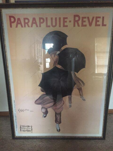 Parapluie-revel By Leonetto Cappiello Umbrellas Framed Vintage Ad Poster 27x36