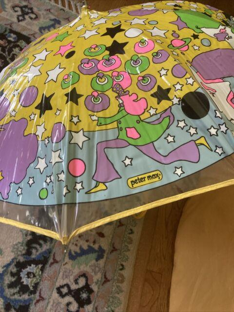 Peter Max Umbrella Rare 1970 Good Vintage Condition Hard To Find Hippie Cool