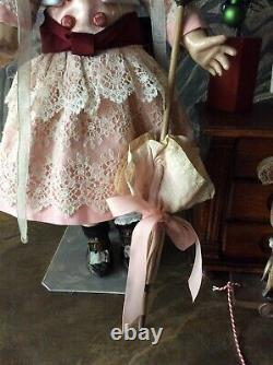Pink Dolldress and Umbrella for Jumeau(nr 8-18.5), Steiner or other doll