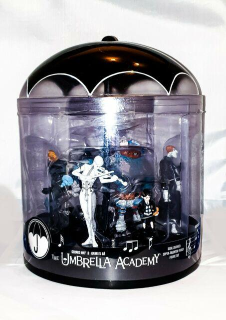Umbrella Academy Figures Complete Set Boxed Rare Vintage Tv Comic Characters