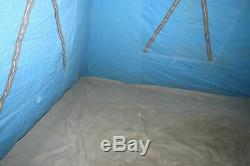 Vintage 60's Canvas Sears Umbrella Camping Tent made by Coleman NICE