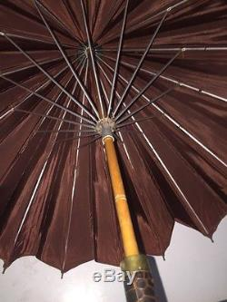 Vintage\Antique Crocodile Skin Umbrella! Very High-Quality And Desirable