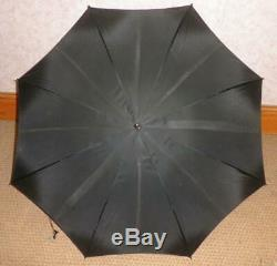 Vintage/Antique Hallmarked Silver Umbrella With Black Canopy And Root Handle