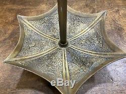 Vintage Brass Art Deco UMBRELLA / CANE Stand w drip tray Entry way / Foyer