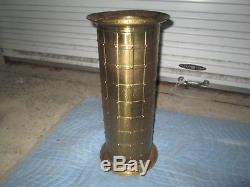 Vintage Brass Umbrella / Cane Stand Holder Made In England Free Shipping