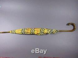Vintage Burberry Umbrella Classic Check Plaid Made In London