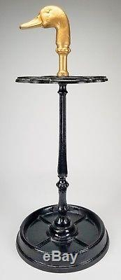 Vintage Cast Iron Duck Head Umbrella Stand Home Decor Made In France