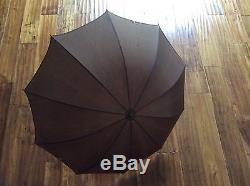 Vintage Dog Head Cane Umbrella With Collapsible Tube Cover