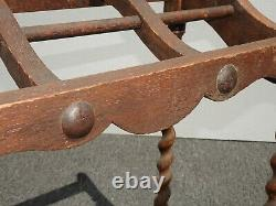 Vintage French Country Brown Barley Twist Umbrella Stand
