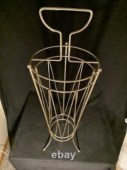 Vintage MCM Umbrella / Cane Stand Holder Mid Century Modern With Cup