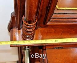 Vintage Neo Classic Hall Tree Marble Top Beveled Mirrors Umbrella Stand mailbox
