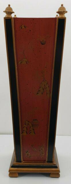 Vintage Oriental Wood Umbrella Stand 24 From Wuhan China