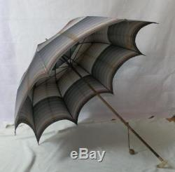 Vintage Paragon S. Fox Umbrella With Mother Of Pearl And Gold Plate Handle